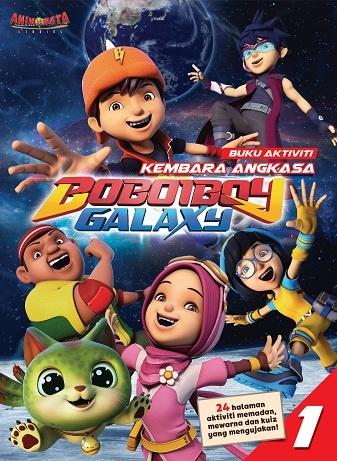 Boboiboy Galaxy Buku Aktiviti Kembara Angkasa Boboiboy Galaxy 1