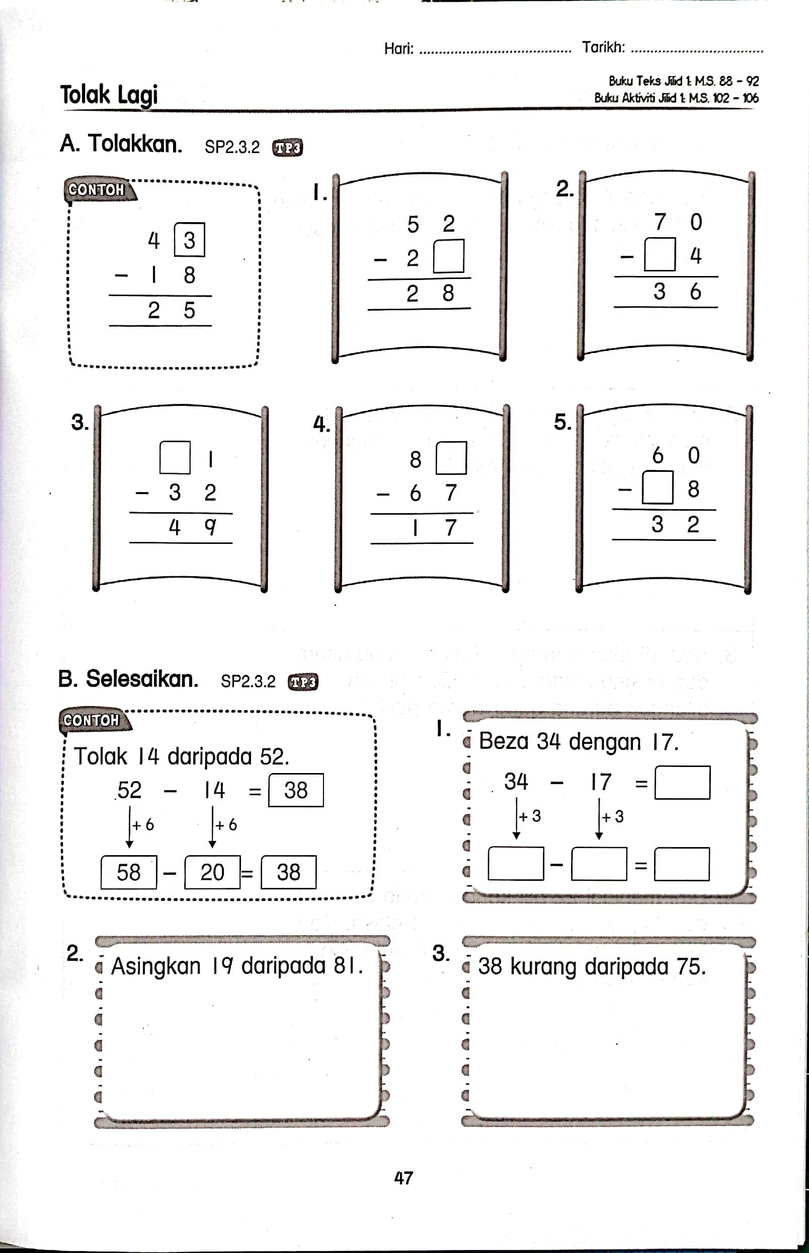 Buku Latihan Matematik Tahun 1