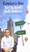 kembara Ilmu Dari Sg. Korok Ke St. Andrews: Sekolah Kesusahan Dan Kehidupan #