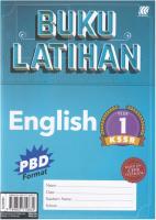 Buku Latihan English Year 1