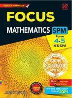 Focus Spm 2021 Mathematics